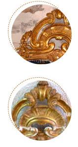 restauration de dorures et sculptures polychromes lyon